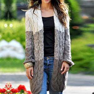 كم LASPERAL الشتاء الخريف أنثى صوفية حك المعطف سترة المرأة البلوز طويل بوهو طويل اللون كتلة كيمونو المنفضة معاطف SH190912