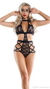 Set Black See Through Ladies Lin Tai Нижнего белье для женщин Apparel Womens Lace Sexy