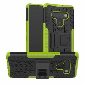 caso de telefone armadura LG K51s Q61 K41s Velvet Aristo 5 Plus / Phoenix 5 / Fortune 3 / K31 Hard Case pele híbrido Gel macia capa de silicone de proteção