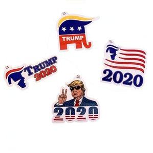Donald Trump Sticker Trump 2020 4 Styles Adhesive Sticker Decoration Bumper Stickers Window Door Fridge Notebook Car Sticker OOA7904