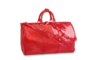 2019 Новый шаблон Классический Люкс Лазерная Вспышка ПВХ Дизайнерские Сумки Keepall 50см Прозрачный Duffle Bag Блестящий Цвет Багаж Tra1564829982