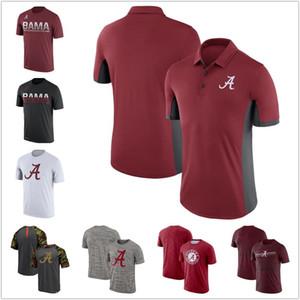 Мужские рубашки поло NCAA Alabama Crimson Tide Открытый Рубашки красный черный серый Путешествия Спорт Velocity Legend Performance ФУТБОЛКИ