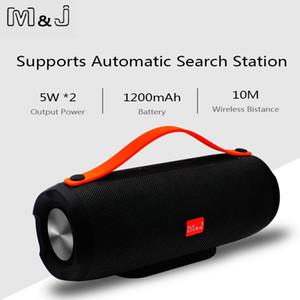 Mj Portable Sans Fil Bluetooth Haut-Parleur Stéréo Grande Puissance 10w Système Tf Fm Radio Musique Subwoofer Colonne Haut-parleurs Pour Ordinateur T190704