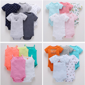 Baby Romper 5-piece lot Baby Jumpsuit Cotton Boy&girls Clothes Short Sleeve Summer Striped Newborn Ropa Bebe Clothing 0-24M