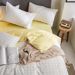 Norte de estilo europeo Algodón-Estilo de cuatro piezas Juego de cama compartida hoja de cama de tres piezas Sábana Ajustable cubierta del edredón