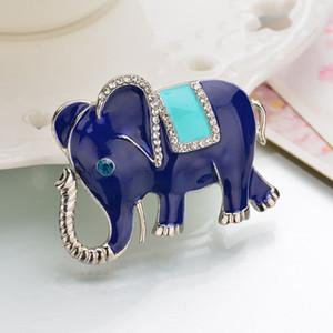 SexeMara 2019 nuovo argento placcato elefante Spilla Pins strass Spille per il vestito del Gioielli Abbigliamento Accessori Abbigliamento femminile