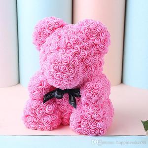 Regalo del día de fiesta de la boda del oso de la decoración de Rose Valentine lindo estupendo de la historieta de la novia del regalo del cabrito Bear Love Dolls Present