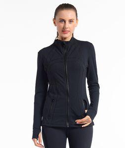 Manches longues Designer Yoga Femmes T-shirts Gym Compression Collants Femmes Sports Wear Yoga Fitness Training Veste Zipper