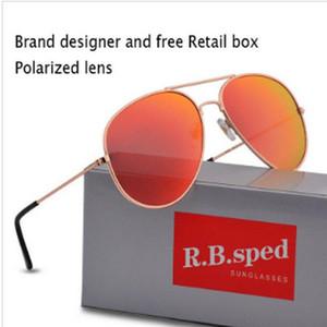 Gran diseñador Gafas Uv400 de alta calidad de la marca UV 400 gafas de sol para hombre solbriller Occhiali Da Sole solbriller Casecustom
