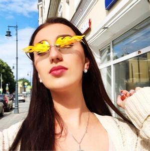 2020 Moda Flama Sunglasses Mulheres Homens Marca Designer Vintage Sun Óculos óculos de luxo na moda Streetwear YwOaO