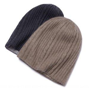 Jiuli giyim erkek ve bayan örgü yeni çiçek iki renkli çift taraflı kaşmir şapka şapka yönlü sıcak sıcak tutun