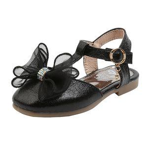 CNFSNJ 2020 new summer autumn bow princess single shoes fashion retro square leather shoes girls dress kids school sandal
