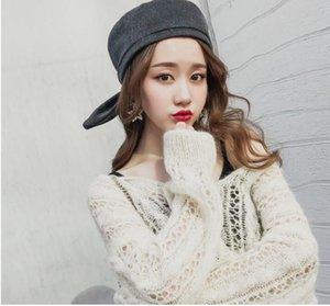 2018 Зимние шапки для женщин Симпатичные уха Hat Берет Черный Красный 4 цвета BARET Девушки Gorras Mujer Женский Берет
