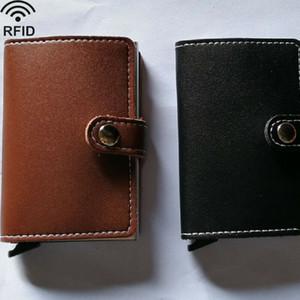 US Vendita Ecopelle Porta carte di credito RFID Blocco Pop-up Portafoglio Money Clip