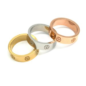 Rose Gold Love Ring 18k gold Titanium Steel Wedding Ring for Women men Jewelry Rings with original box