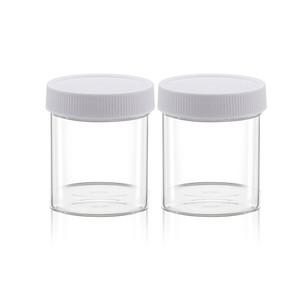 120ML Limpar garrafas de plástico transparente com Cap Esvaziar Spice Nuts Food Storage Container Jars Atacado