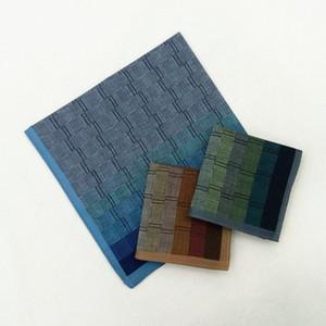 43 * 43cm Handkerchief de algodón de algodón Gradiente de la pared Ladrillo Lattice Handkerchief Dark Square Bufanda