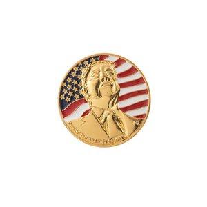 Trump Badge 2020 Trump Metallbrosche Pins US-amerikanische Wahlen Supplies Patriotische Republikanische Kampagne Gedenk Abzeichen IIA17