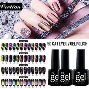Verntion 5D Cat Eye Gel Polish Lacquer Smalto magnete magnetico impregna il chiodo di arte del polacco Chameleon Off Gel UV UV smalto per unghie
