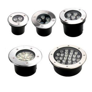 Уличный светодиодный подземный свет торшер IP67 Водонепроницаемый 3W / 6W / 9W 85-265 Напольных Первого сад Пути Этаж Площадь лампа Пейзаж свет