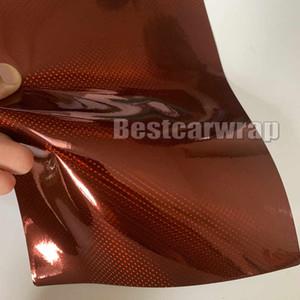 Involucro olografico vinilico Neo cromato rosso vino Per involucro auto completo con bolla d'aria Avvolgimento veicolo Ologramma grafico laser Dimensioni foglio 1,52x20 m / rotolo