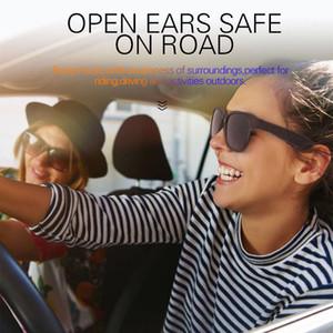 Drahtlose Sprachsteuerung Bluetooth Sonnenbrille offenes Ohr Technologie eyewear Musik Telefonanruf Touch-Sensor macht die Hände frei HD Smart Glasses