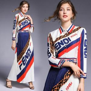 Vestidos de pista 2019 mulheres de alta qualidade no pescoço vestidos de festa de impressão animal do vintage designer de longo maxi dress vestidps robe femme