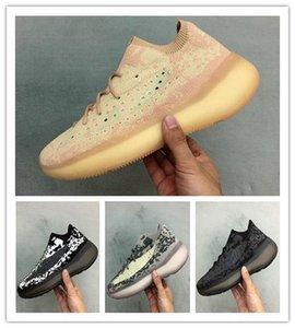 ssYEzZYYEzZYs v2 350boost Kanye 380 Sneaker Mens Designer Shoes Alien Mens Running Shoes Women Trainer Bold Black Stark White