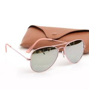 occhiali da sole di marca di qualità Gold Frame occhiali da sole dello specchio di modo delle donne di occhiali da sole Ray Mens occhiali da sole occhiali da sole classici pilota