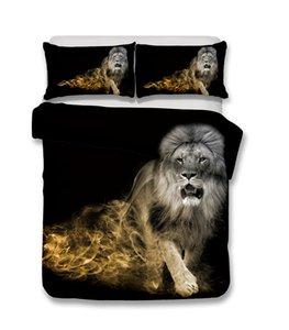 Nuevo diseñador de la alta calidad de la manera populares 3d panda animal elefante león del oso polar caliente del arte de cama de lujo tres piezas conjunto Cuatro conjuntos