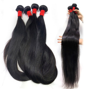 Beautystarquality Long Virgin Virgin Indian Human Hair Extensions Straight Wave 36 38 40 pouces Sans tour Virgin Remy HairSe
