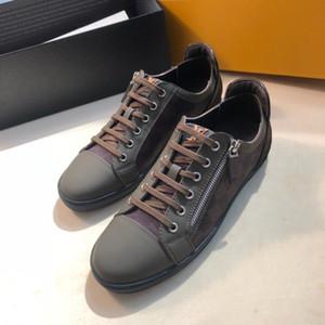 Scarpe da uomo a basso costo 2019 designer Lok Fu scarpe scarpe di lusso tessuto e pelle intrecciata moda casual abbigliamento maschile preferito