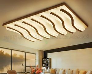 Acrílico Rectangular Ultra-delgado Lámpara de techo Vela simple Lámparas LED Luces Iluminación del hogar Para la sala de estar Dormitorio Estudio Habitación Villas