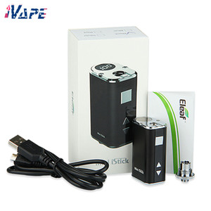 100% Authentic Eleaf Mini iStick 10W Battery Kit Built-in 1050mAh Variable Voltage VV Box Mod with USB Cable & eGo Threading Connector