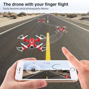 Modo SYMA Oficial X22W Drones com câmera FPV Wifi Tempo real Transmit Headless Hover RC Helicopter Quadrotor Drone Dron Red