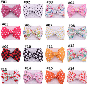 2020 DIY Unicorn baby headbands dots newborn designer headbands rainbow girls designer headband hair bows hair bands hair accessories B1372