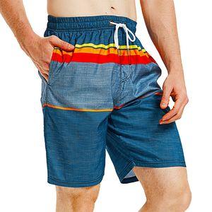 2020 New Men Quick Dry Breathable Swimwear Swim Shorts Trunks Beach Shorts Striped Swimming Surfing Pants Running Sports S91034X