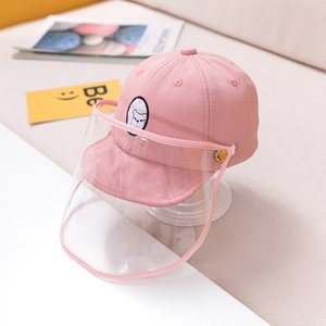 Baby Anti-spray de Hat Pure Cotton capa protetora 1 Year Old destacável Anti-saliva Cap Crianças Baseball