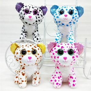 TY Beanie Boos عيون كبيرة أفخم لعبة الدمية 4 نماذج البقع القط TY Baby للأطفال Brithday Gifts