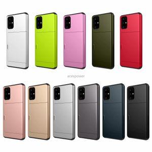 Cas de portefeuille pour iPhone 12 Mini 11 PRO XS Max Samsung S20 Plus Coques Mince Card Slot Slot Protecteur Coque Hybride Back Housse