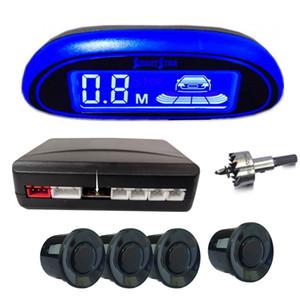 sensore di parcheggio automatico Parktronic LED con 4 sensori per il parcheggio retromarcia due voce lingua dell'automobile sistema di rilevamento commutabile