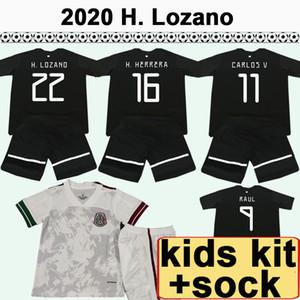 2020 Мексика Chicharito Kids Kit Soccer Tehersys Jerseys Джименес Домашний Домашний Детский футбол футбол H. Лозано Граждадо Мальчик Девушка CamiSetas de Futbol