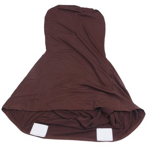 Elegant Stretch Strap-free chair Bi-Elastic Chair cover made of elastane for banquet hall (coffee brown)