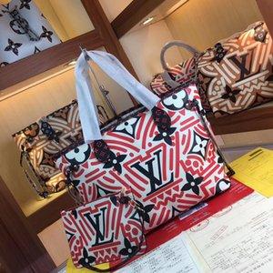 Newset Large Shopping bags Designer Shoulder Bag Contrast Color Beach bags Genuine Leather Handbag Crossbody Purse Messenger Handbags y0053
