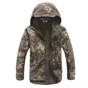 남자 Lurker 상어 피부 Softshell 군사 전술 재킷 남자 방수 Windproof Warm Coat 위장 후드 Camo Army 의류
