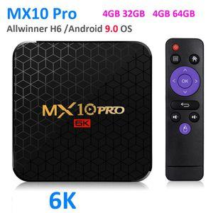 6K TV Box MX10 Pro Android 9.0 Allwinner H6 Quad Core 4GB 32GB 64GB 2.4 G WiFi USB3. 0 поддержка 6K*4K H. 265 Smart Media Player