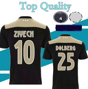 Thai quality 2018 2019 Ajax FC Away soccer jersey 18 19 KLAASSEN FISCHEA BAZOER MILIK BOLBERG football shirt