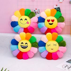 40 centímetros Murakami Takashi girassol Plush Almofada Toy Sofá boneca Almofada dentes sorriso colorido girassol Diâmetro Home Textiles almofadas decorativas