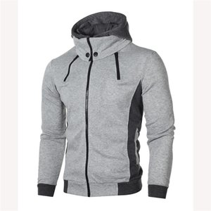 Mens Spring Designer New Casual Coat Double Pull Hooded Sweater Trend Homme Sports Jacket Fashion Cardigan