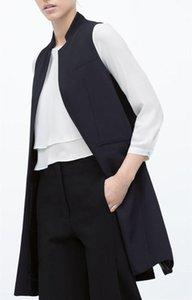 Femmes Printemps Automne Vente Chaude Outwear Long Blazer Gilets Bureau Dames Blouson Blazer Cranté